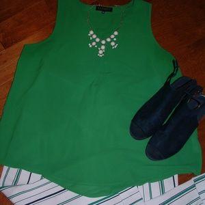 Eloquii Size 18 Green Shirt